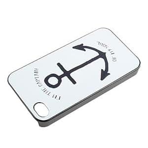 TY- Anchor Caso duro del patrón para el iPhone 4/4S