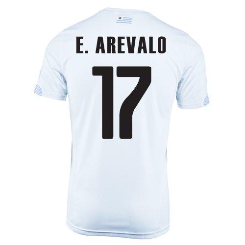 嫌がるクック知覚できるPuma E. Arevalo #17 Uruguay Away Jersey World Cup 2014/サッカーユニフォーム ウルグアイ アウェイ用 ワールドカップ2014 背番号17 エヒディオ?アレバロ