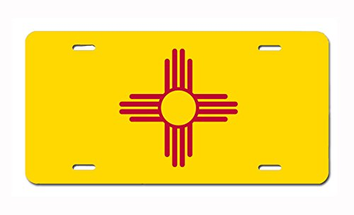 U.S. State Flag Front Plate License / Vanity Plate – Made in the U.S.A. (New Mexico)