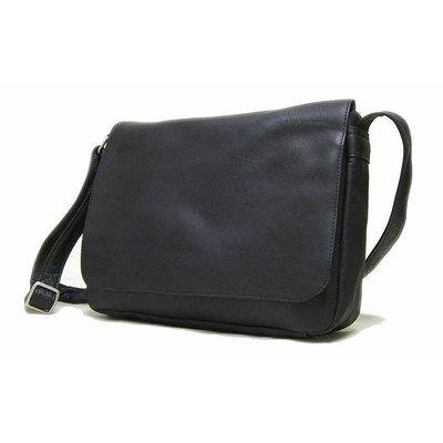 (Le Donne Leather Flap Over Shoulder Bag (Black))