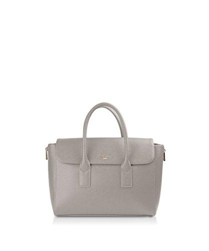 POMIKAKI borsa ROBERTA RO12-E17.011 GREY, borsa shopper, ecopelle saffiano, tracolla