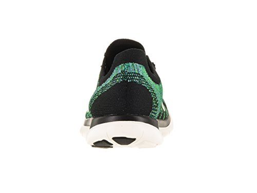 Chaussure De Course À Pied Nike Free 4.0 Flyknit Noir / Voile / Vltg Vert / Lcky Grn