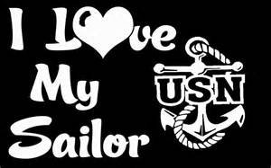 Chase Grace Studio I Love My Sailor US Navy Military Wife Girlfriend Vinyl Decal Sticker|White|Cars Trucks SUV Laptop Wall Art|5.5