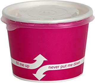 (100 Count Pink Deli Containers Durable Food Storage Containers with Lids Hot and Cold Disposable 12oz Containers Use for Frozen Desserts, Soups, or Any Food of Your Choice)