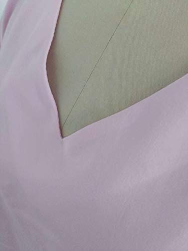 T Camicie Tops Donne Maniche Autunno shirts fashion Tulle 3 4 Cucitura Rosa Bluse Maglietta Casual Moda Blouse E V Collo Simple Primavera qxIXBUwUP