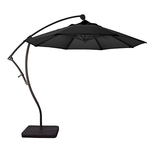 Aluminum Tilt Offset Umbrella - Phat Tommy 9 Ft Cantilever Offset Aluminum Market Patio Umbrella with Tilt - for Shade and Outdoor Living, Black