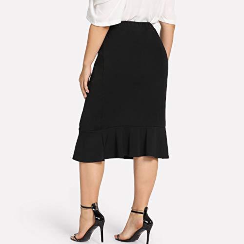 Röcke 30Reduziert Elastische Damen Beiläufige Pingtr Taille 8nkPX0wON