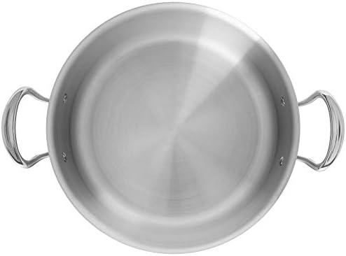 Mauviel1830 523112 M'Cook Fleischtopf mit Deckel, edelstahl, 24 cm