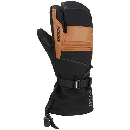 Gordini GTX Storm Trooper 3 Finger Mitt - Men's Black/Tan - Glove Gauntlet Down Aquabloc