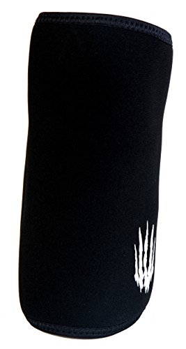 Bear KompleX Elbow Sleeves (SOLD AS A PAIR of 2) for weightlifting, powerlifting, wrestling, strongman, bench press, cross fitness, and more. Compression sleeves come in 5mm thickness Elbow BLK XXL by Bear KompleX (Image #1)