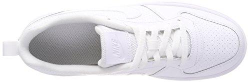 Nike Court Borough Low (GS), Zapatillas de Baloncesto Unisex Niños Blanco (White/white-white 100)