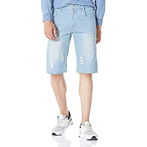 Men's Regular Fit Straight Leg Denim Short