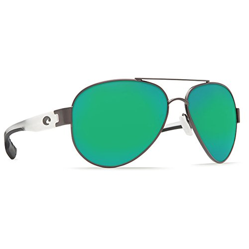 Costa Del Mar South Pt. 580P South Pt., Gunmetal with Crystal Temples Green Mirror, Green - Point South Costa Sunglasses