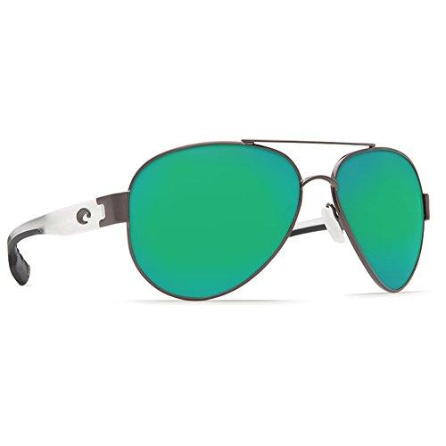 Costa Del Mar South Pt. 580P South Pt., Gunmetal with Crystal Temples Green Mirror, Green Mirror Costa Del Mar Gunmetal Sunglasses
