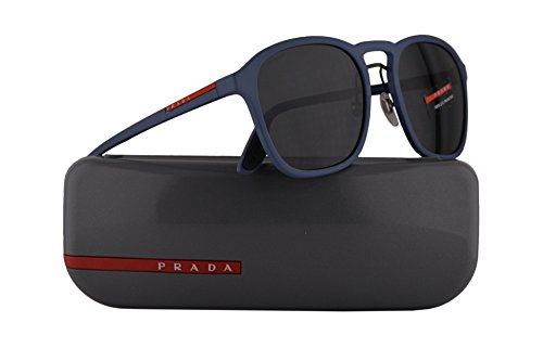 Prada PS02SS Sunglasses Opal Blue Rubber w/Grey 55mm Lens VHE1A1 SPS02S PS 02SS SPS 02S (Sale Prada Sunglasses Men For)