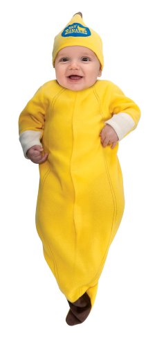 Rubie's Trick Or Treat Sweeties Going Bananas Bunting Costume, Yellow, Newborn