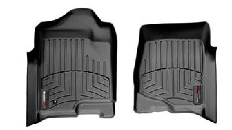 Weathertech 2010 Chevy (WeatherTech 2008-2013 Chevy Silverado 1500 Crew Cab Double Cab Front Set Custom Floor Mats Liners - Black)