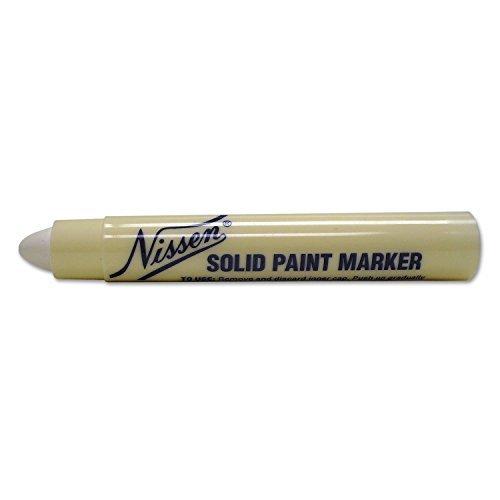 Nissen Solid Paint Markers - Nissen SPWHS Standard Solid Paint Marker, White by Nissen