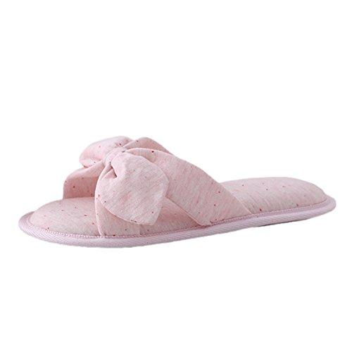 Pantofole Bagnodemone Lavabili In Memory Foam Lavabile In Cotone Da Donna Bestfur Rosa-2