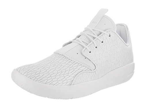Jordan Nike Kids Eclipse Prem HC GG White/White Pure Platinum Basketball Shoe 5 Kids US