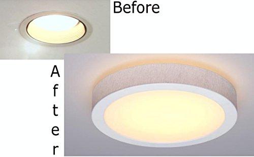 recessed ceiling light flush mount converter kit by softlites llc. Black Bedroom Furniture Sets. Home Design Ideas