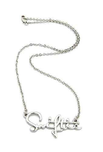 Crescendo SJ New Celebrity Fans 'Swiftie' Pendant 2mm/18 Link Chain Fashion Necklace XC479R