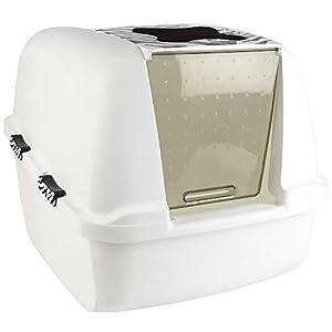 Catit White Tiger Jumbo Cat Pan, White-Black 100