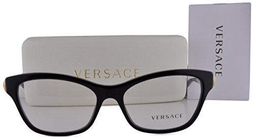 Versace VE3214 Eyeglasses 54-16-140 Black GB1 VE 3114 For - Glasses Versace Girl