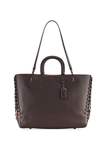 Coach 1941 Rogue Link Leather Tote Bag Brown handbag New
