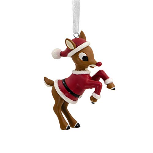 - Hallmark Christmas Ornaments, Rudolph the Red-Nosed Reindeer in Santa Suit Ornament