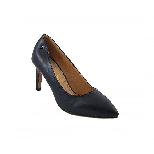 Benavente Zapato de Salón Tacón Medio Napa Marino aIDY0