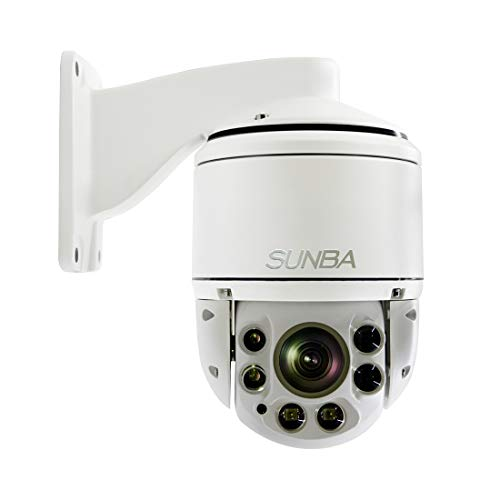SUNBA 406-D20X – IP PoE+ H.265/H.264 1080p Outdoor PTZ Camera, 20X Optical Zoom, Auto-Focus, 328ft Night Vision and ONVIF Compliant