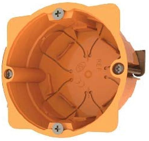 Cajas empotradas para paredes huecas (pladur ó similar) Caja para mecanismos enlazable 68 x 45mm naranja: Amazon.es: Bricolaje y herramientas