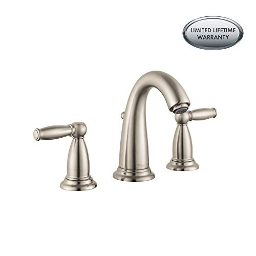 Hansgrohe 06117820 Swing C Widespread Faucet with Lever Handle, Brushed Nickel