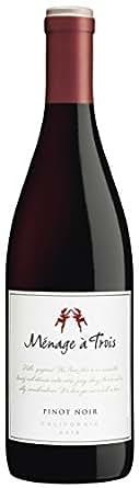 2015 Ménage à Trois Pinot Noir 750 mL Wine