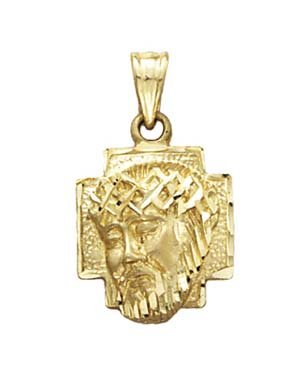 Amazon 14k yellow gold christ head pendant jewelry 14k yellow gold christ head pendant aloadofball Choice Image
