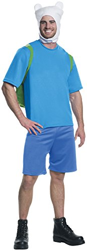 Rubie's Men's Adventure Time Deluxe Finn Costume, Multicolor, X-Large -