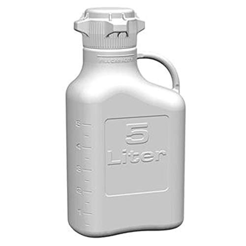 (EZgrip 5L (1 Gal) Autoclavable Polypropylene Space Saving Carboy with Leakproof Spigot, 83mm (83B) VersaCap and 6.9L Max Capacity)