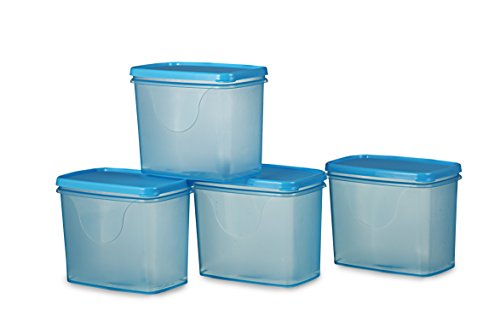 All Time Plastics Sleek Container Set, 850ml, Set of 4, Blue