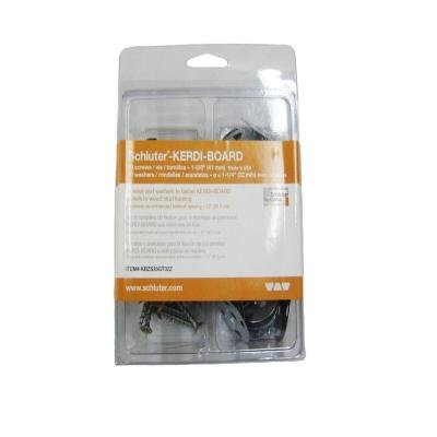 Kerdi Board Hardware Set with 1-5/8 in. Screw and 1-1/4 in. Washer by Schluter