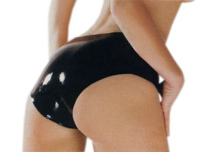 latex panties Black