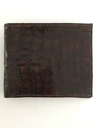 Handmade Men's Genuine 100% Alligator Skin Wallet Paisley Jade Lining