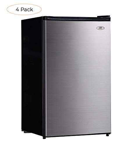 SPT RF-444SS Compact Refrigerator, 4.4 Cubic Feet, Stainless Steel, Energy Star (Fоur Расk)