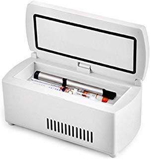 Enshey Portable Insulin Cooler Refrigerated Box LCD Display Insulin Cooler Case Portable Reefer Car Small Refrigerator Mini Cold Boxes Portable Drug Reefer Mini Drug Constant Temperature Refrigerato