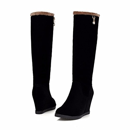 cotton suede boots boots winter Autumn high and Terry tube boots Black diamond qaHHA7w