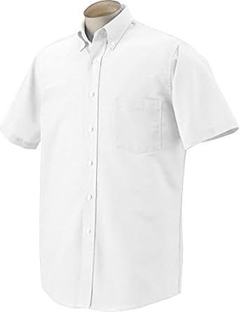 Van Heusen Men's Short Sleeve Oxford Dress Shirt, Classic White, S