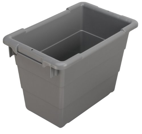 Akro-Mils 34302 Cross-Stack Plastic Tote Tub 17-Inch by 11-Inch by 12-Inch 6-Pack Grey