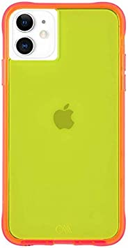 Case-Mate - iPhone 11 Case - Tough NEON - 6.1 - Yellow/Pink Neon