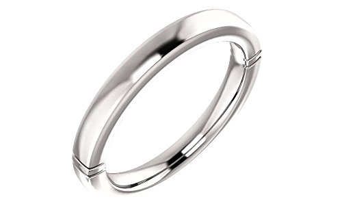 - Jewels By Lux 14k White Gold 7x7mm Heart Wedding Band Size 7