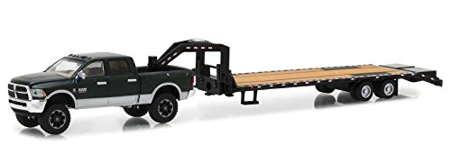 2017 Dodge Ram 2500 Pickup Truck and Gooseneck Trailer Hitch & Tow Series 12 1/64 Diecast Car Model by Greenlight 32120 D Dodge Trailer
